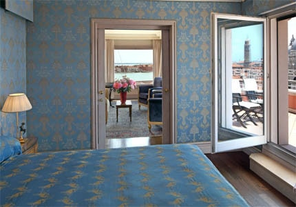 A guest room at Bauer Il Palazzo in Venice, Italy