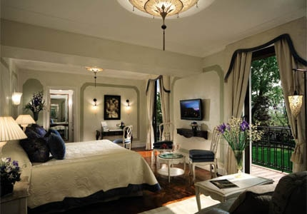 A guest room at Hotel Cipriani in Venice, Italy