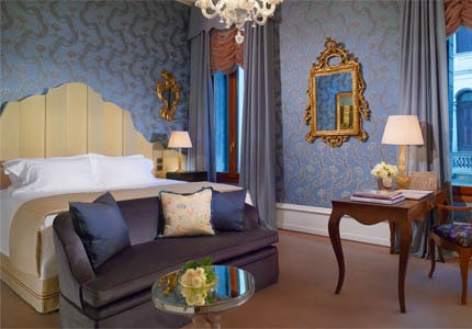 A guest room at The Gritti Palace in Venice, Italy
