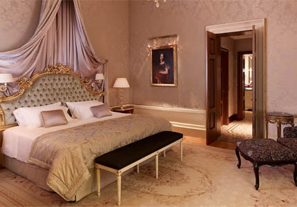 A guest room at Hotel Danieli in Venice, Italy
