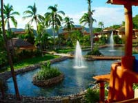 Tropical gardens at The Tides Zihuatanejo in Mexico