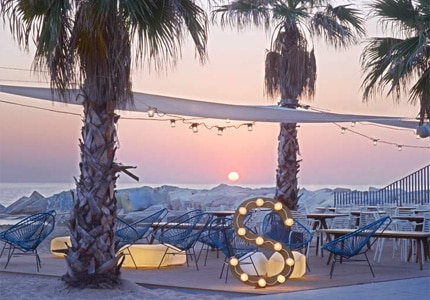 The Salt Beach Club at W Barcelona, one of GAYOT's Top 10 Romantic Hotels in Spain