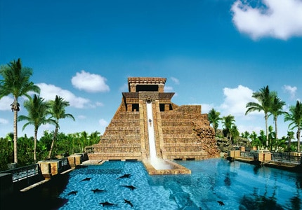 The Leap of Faith slide at Atlantis Paradise Island