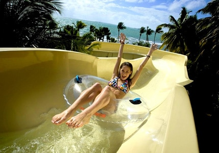 Check out GAYOT's Top 10 Water Slides in Luxury Resorts to find great places to get wet, like Coqui Water Park at El Conquistador Resort in Puerto Rico