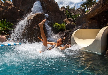 The Grand Wailea in Maui offers watery thrills for guests of all ages