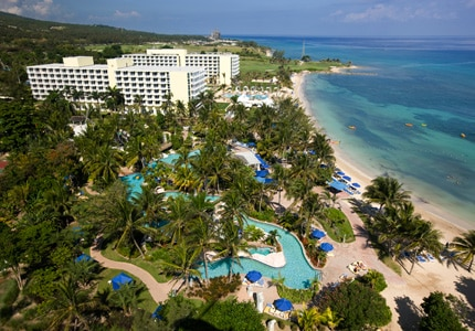 The pool complex at Hilton Rose Hall Resort & Spa in Jamaica
