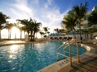 Lagoon pool at the beach location of the Diplomat Resort & Spa Hollywood, Curio Collection by Hilton