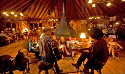 The Round Room at A Bar A Ranch in Wyoming