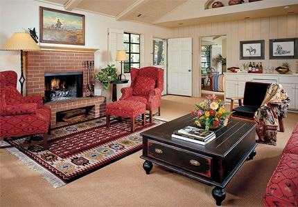 Suites and studios at The Alisal Guest Ranch and Resort feature authentic Western décor
