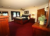 A guest room at Bar W Guest Ranch in Whitefish, Montana