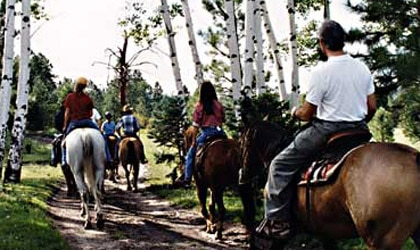 Horseback riding at Hidden Meadow Ranch in Arizona