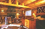 Rustic accommodations at UXU Ranch in Wapiti, Wyoming