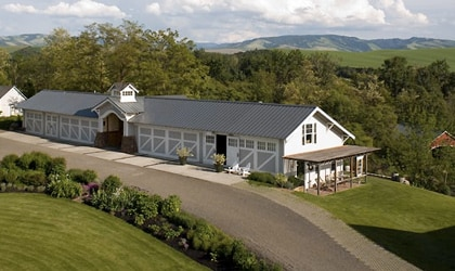 The Inn at Abeja rests on the edge of the Blue Mountains in Walla Walla, Washington