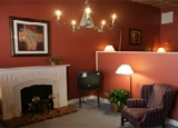 Inside a king-sized suite at Brookstown Inn in Winston-Salem, North Carolina