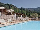 The pool at Calistoga Ranch in Napa Valley, CA