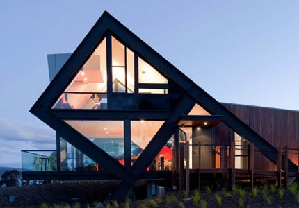 Mona Pavilions in Tasmania, Australia, one of GAYOT's Top 10 Wine Country Inns Worldwide