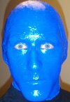 Las Vegas Blue Man Group member Nicholas Kittle