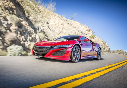 A side view of the Acura NSX