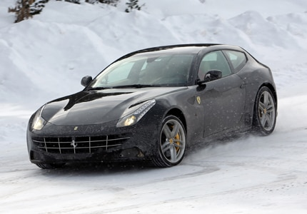 A three-quarter front view of the Ferrari FF, previously featured on GAYOT's Top 10 Exotic Sports Cars