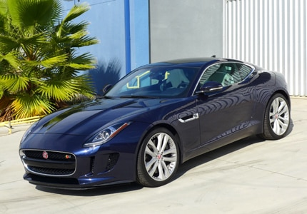 The Jaguar F-TYPE S Coupe Manual, one of GAYOT's Top 10 Exotic Sports Cars