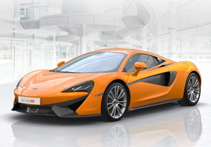 A three-quarter front view of the McLaren 570S