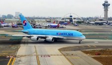 Korean Air's Airbus A380 at LAX
