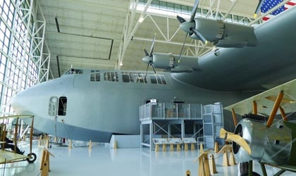 The Hughes H-4 Flying Boat (Spruce Goose) at the Evergreen Aviation & Space Museum in McMinnville, OR