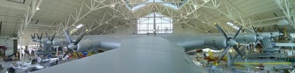 "The ""Spruce Goose,"" the world's largest wooden airplane, at the Evergreen Aviation & Space Museum in McMinnville, OR"