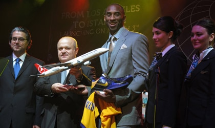 Kobe Bryant at the launch of Turkish Airlines' first nonstop flight from LA to Istanbul