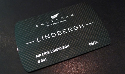 The Lindbergh Card from Empyrean offers members access to a wide variety of aircrafts