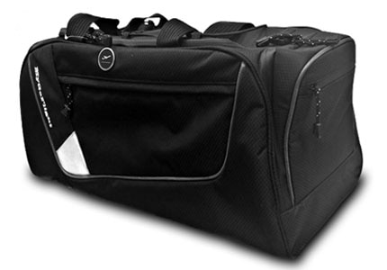 MyGoFlight's PLC Duffel is made out of water-resistant material and has a spacious center section