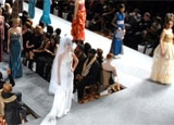 The Runway and Audience at Couture Fashion Week New York