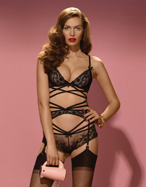 "The sexy ""Sandra"" look from Agent Provocateur's Spring Summer 2014 collection"