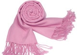 A pink pashmina wrap from The Pashmina Store