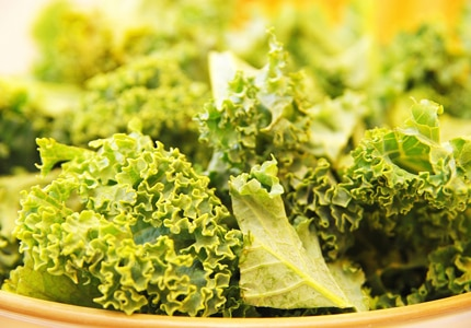 Leafy green kale is rich in vitamins and phytonutrients