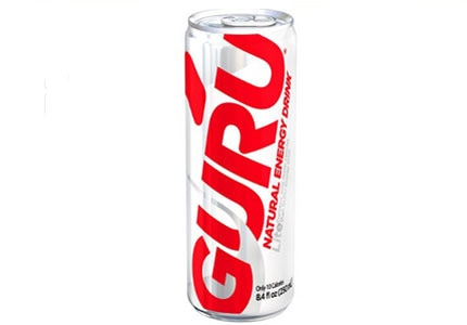 A blend of natural and organic ingredients, GURU contains 100mg of caffeine
