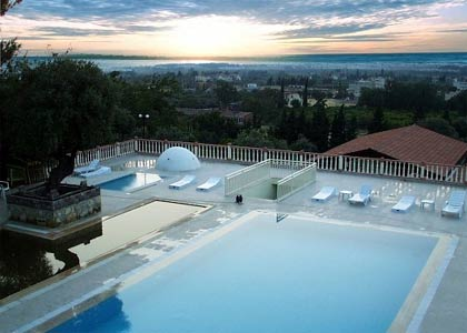 An outdoor thermal pool at the Natur-Med Thermal Springs and Health Resort in Turkey