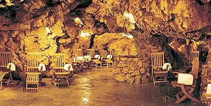 The thermal grotto at the Grotta Giusti in Tscany, Italy