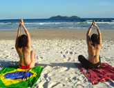 Yoga on the beaches of Brazil