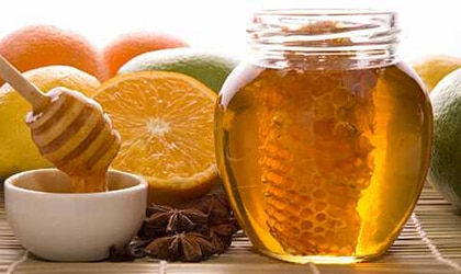 Raw honey is filled with antioxidants and has fewer calories than refined sugar