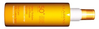 Clarins Sun Care Milk-Lotion Spray SPF 50+, one of GAYOT's Top 10 Sunscreens