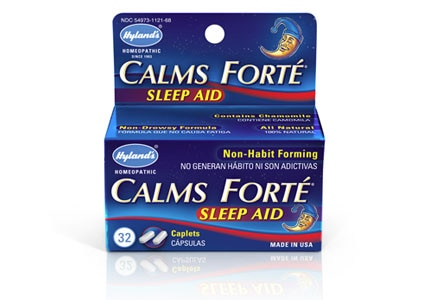 Hyland's Calms Forte temporarily relieves sleeplessness as well as nervous tension