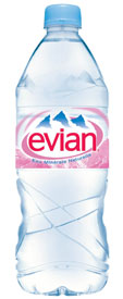 Evian Natural Spring Water is collected from the Source Cache in France
