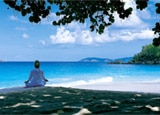 Meditation at the Self Centre at Caneel Bay in the Caribbean