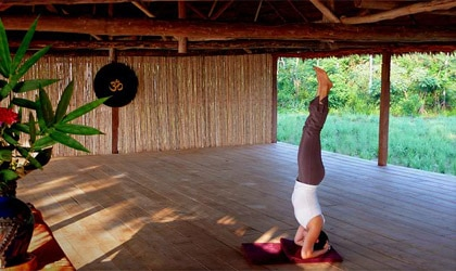 Yoga at Jangala Retreat in Iquitos, Peru
