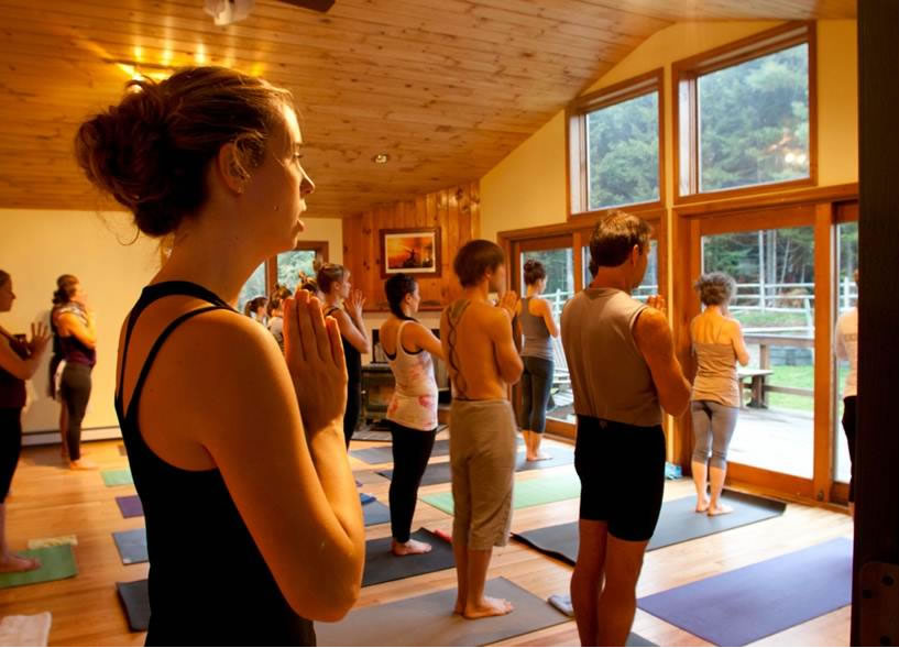 Stowe Yoga Retreat Center offers waterfall-side yoga
