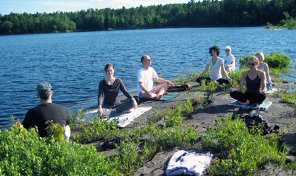 Meditate on the lake at Sewall House Yoga Retreat in Maine
