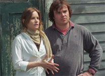 Jennifer Jason Leigh and Jack Black in Margot at the Wedding