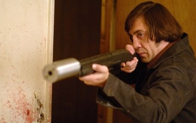 Javier Bardem plays a brutal assassin  in No Country for Old Men