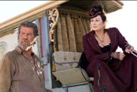 "Pierce Brosnan and Anjelica Huston in ""Seraphim Falls"""
